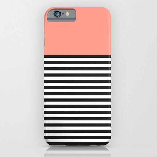 STRIPE COLORBLOCK {CORAL} iPhone & iPod Case