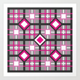 BadGirl Scottish Pattern Art Print