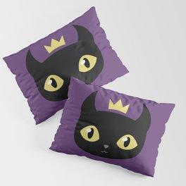 Black cat king Pillow Sham