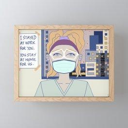 Please Stay At Home Framed Mini Art Print