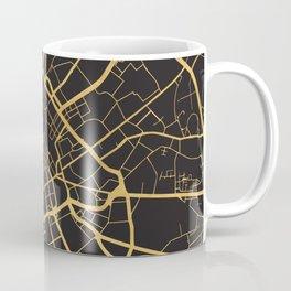 MANCHESTER ENGLAND GOLD ON BLACK CITY MAP Coffee Mug