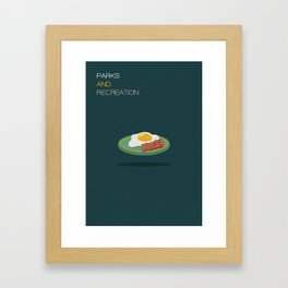 Parks And Recreation Minimalist Poster Framed Art Print