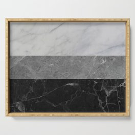 Marble - White, Grey, Black Serving Tray