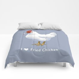 Funny Fried Chicken Pot Smoking White Hen Comforters