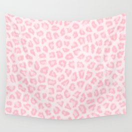 Girly blush pink white abstract animal print Wall Tapestry