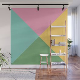 four triangles - spring Wall Mural