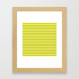 Black Lines On Yellow Framed Art Print