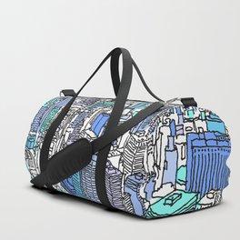 new york city_ aqua Duffle Bag