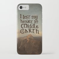 lotr iPhone & iPod Cases featuring I Left My Heart in Middle Earth by Leah Flores