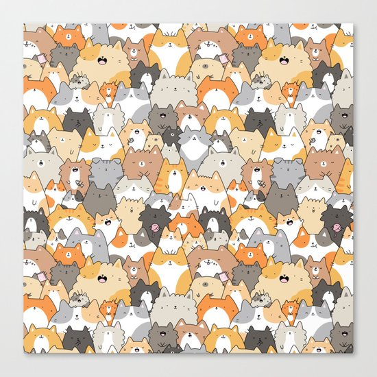Cats, Kitties and a Spy Canvas Print