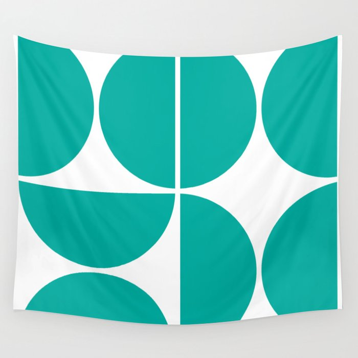 Mid Century Modern Turquoise Square