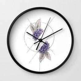 Floral Division Wall Clock