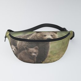 Mama bear with adorable cubs Fanny Pack