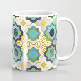 Marrakesh gold and blue geometry inspiration Coffee Mug