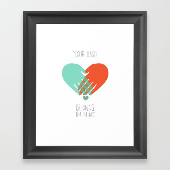 I wanna hold your hand Framed Art Print