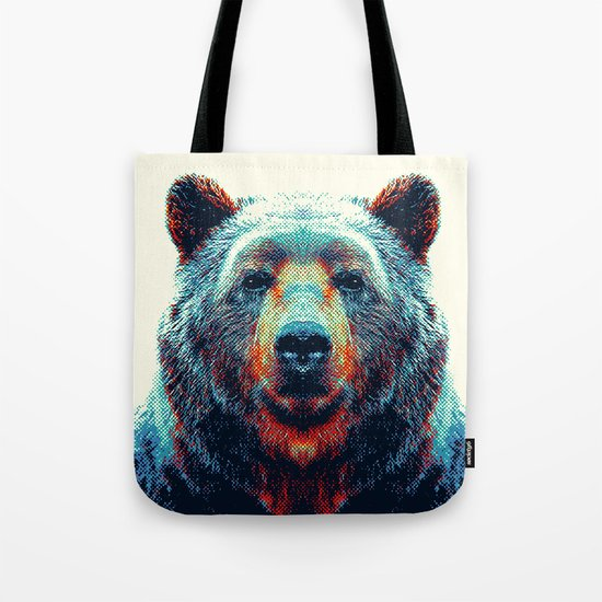 Bear - Colorful Animals Tote Bag