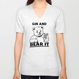 Gin And Bear It Unisex V-Neck