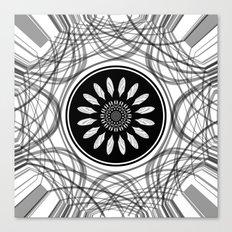 Monochrome center Canvas Print