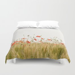 Poppies Coquelicots Duvet Cover