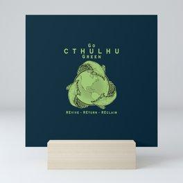 Go Cthulhu Green Mini Art Print