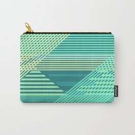 Striped Tropical Escape Carry-All Pouch