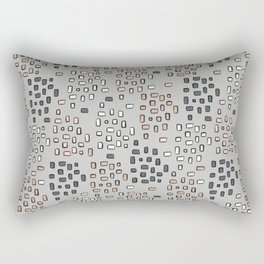 Rectangle Square Doodle Vector Pattern Seamless Rectangular Pillow