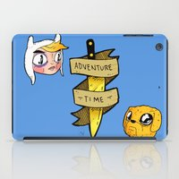 finn and jake iPad Cases featuring Finn and Jake by Nate Galbraith