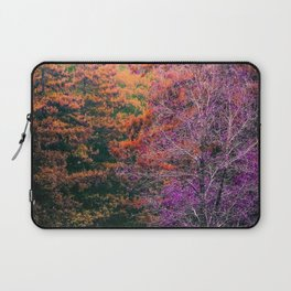 autumn tree in the forest with purple and brown leaf Laptop Sleeve