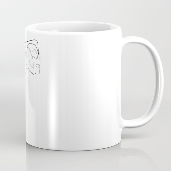 One line Rocketeer Mug