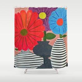 Friendly Flowers Shower Curtain