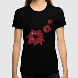 Poinsettias - Christmas flowers   BG Color II T-shirt