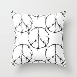 Peace Simbol Throw Pillow