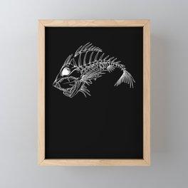 Angler Fish Skeleton for Aquatic Horror Fan Framed Mini Art Print