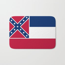 Mississippi State Flag, Authentic Version Bath Mat