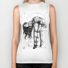 Lady on Table. Workbench. Yury Fadeev. Biker Tank