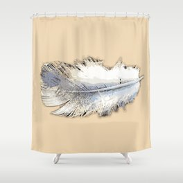 Fair weather feather Shower Curtain