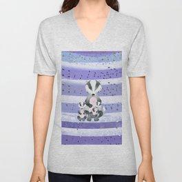 Tones Of Purple Bea Badger - Bagaceous Unisex V-Neck