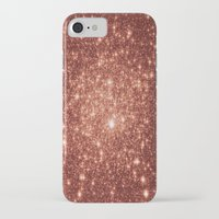 rose gold iPhone & iPod Cases featuring rose gold stars by GalaxyDreams