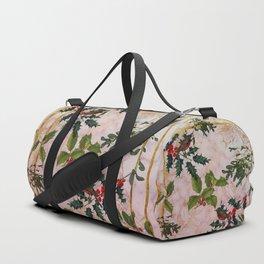 Holly and Mistletoe Duffle Bag