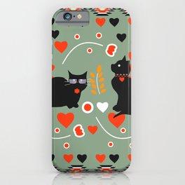 Romantic cats iPhone Case