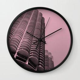 Corn Cob Buildings, Chicago Wall Clock