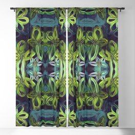 Tropical Greenery Blackout Curtain