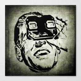 3D glasses vintage Canvas Print