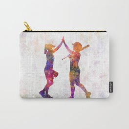women playing softball 01 Carry-All Pouch