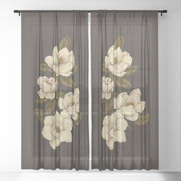 Magnolias Sheer Curtain