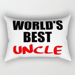 worlds best uncle Rectangular Pillow