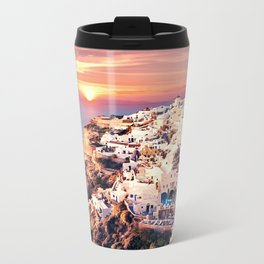 Santorini Sunset View Travel Mug