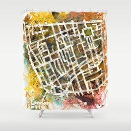 Soho London Map Shower Curtain