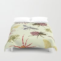 insects Duvet Covers featuring Insects by Stag Prints