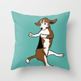 The Dancing Beagle Throw Pillow